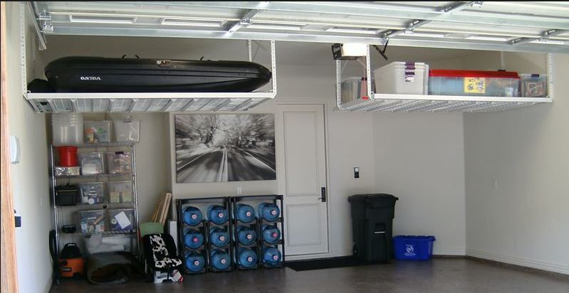 Boxes in garage.